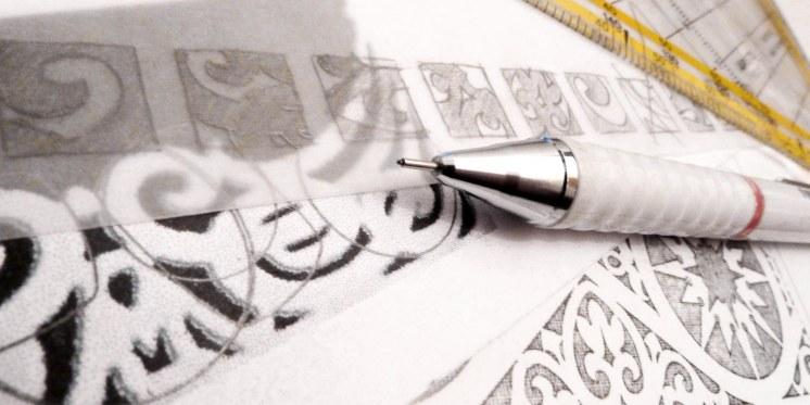 Zeichnungen der Ornamente Bäderarchitektur
