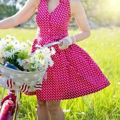 Guck nach vorne - das Leben ist wie Fahrrad fahren